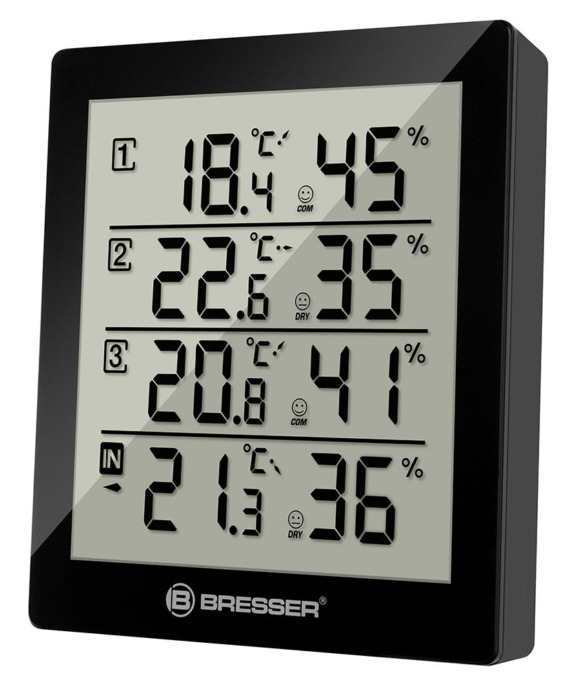 Bresser Temeo Hygro Quadro Weather Station, black