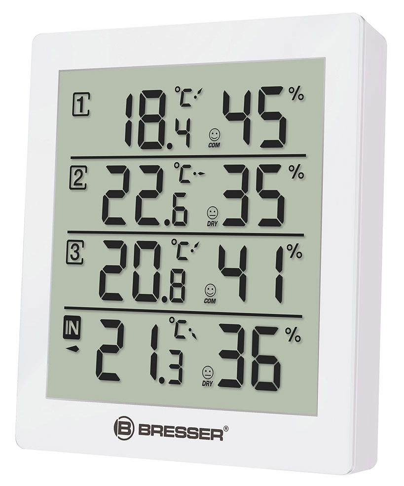 Bresser Temeo Hygro Quadro Weather Station, white