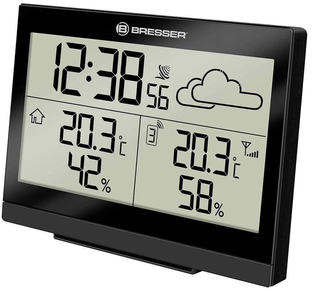 Bresser TemeoTrend LG RC Weather Station, black