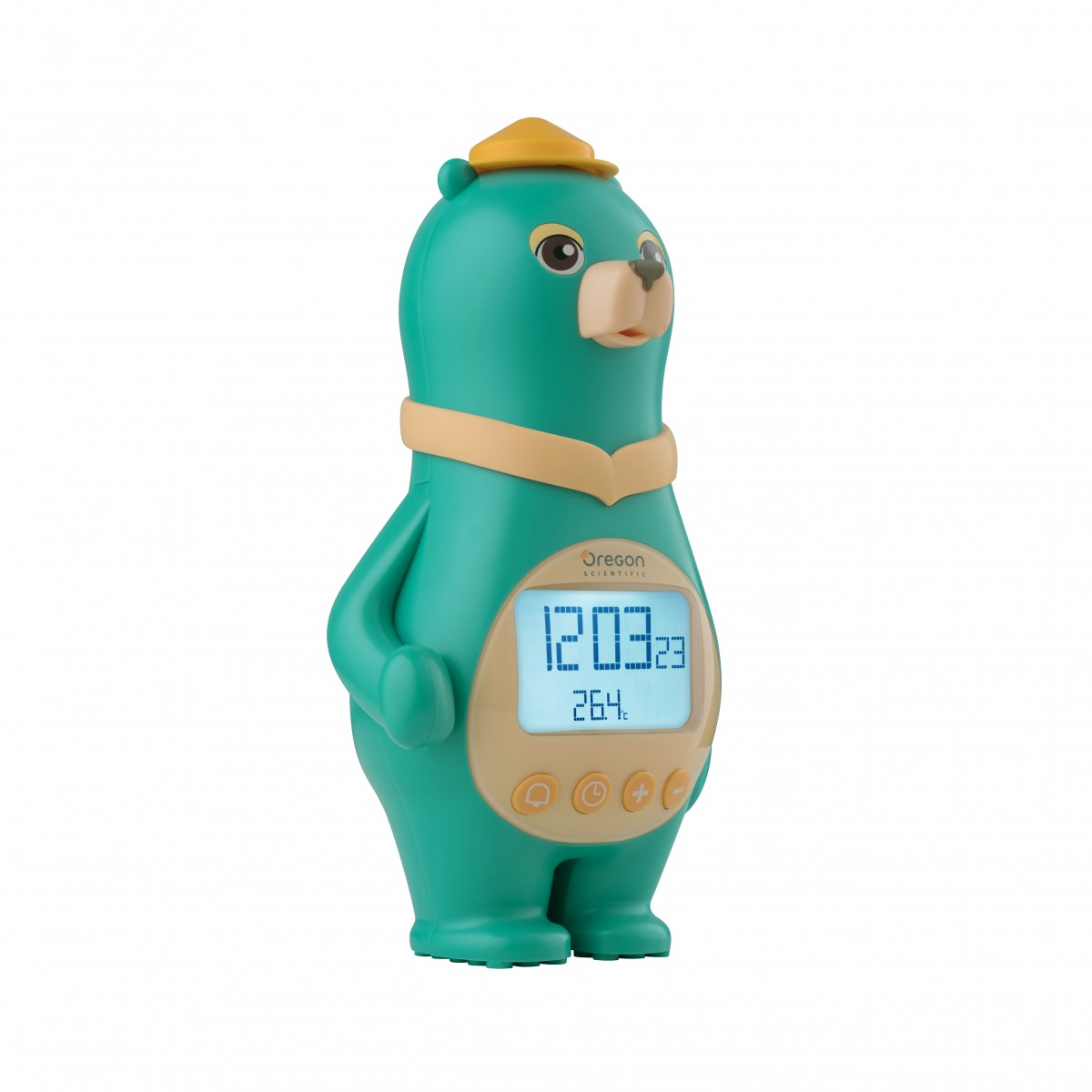 Oregon Scientific Bear Clock with Temperature & Calendar, green Batteries only. The perfect gift for a child's bedroom.