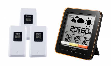 Oregon Scientific 4-Zone Weather Station with Mould Detector Weather forecast, temperature and humidity. Radio range up to 30 m.