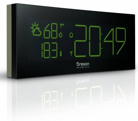 Oregon Scientific PrysmaChrome Weather Station, grey LCD Display. Alarm Functions.