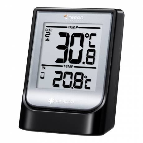 Oregon Scientific Weather@Home Wireless Indoor/Outdoor Thermometer with Bluetooth Bluetooth range of up to 30 m. Indoor/Outdoor temperature, humidity, time.