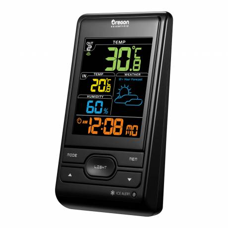 Oregon Scientific Wireless Weather Station with Colour Display LCD colour display. Weather forecast for the next 12 hours.